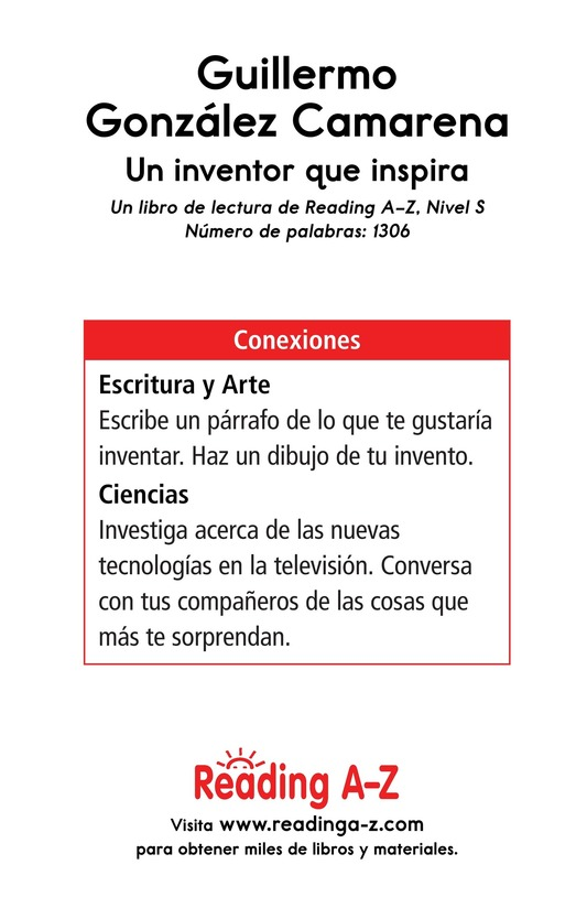 Book Preview For Guillermo González Camarena, un inventor que inspira Page 17
