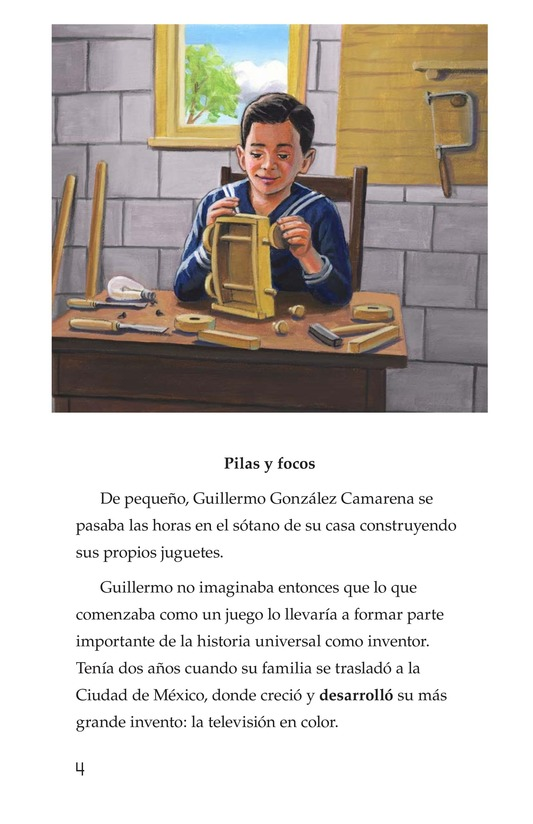 Book Preview For Guillermo González Camarena, un inventor que inspira Page 4