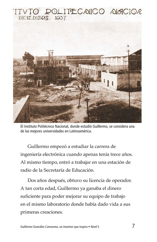 Book Preview For Guillermo González Camarena, un inventor que inspira Page 7