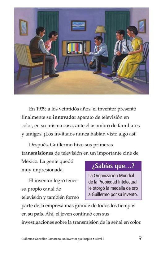Book Preview For Guillermo González Camarena, un inventor que inspira Page 9