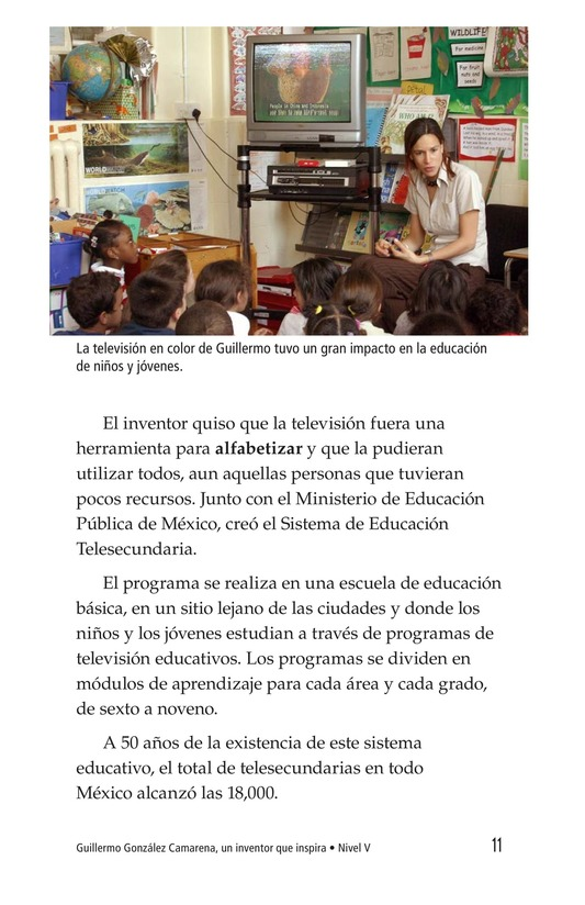 Book Preview For Guillermo González Camarena, un inventor que inspira Page 11