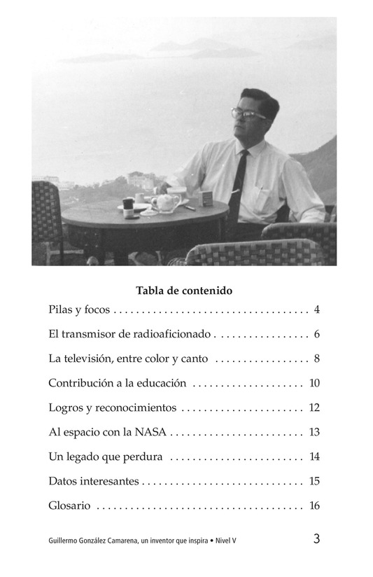 Book Preview For Guillermo González Camarena, un inventor que inspira Page 3