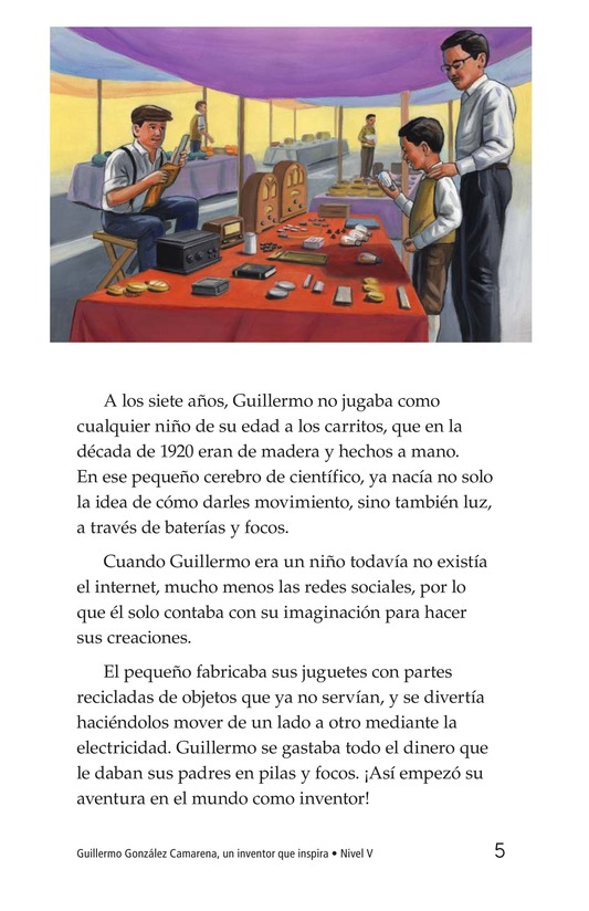 Book Preview For Guillermo González Camarena, un inventor que inspira Page 5