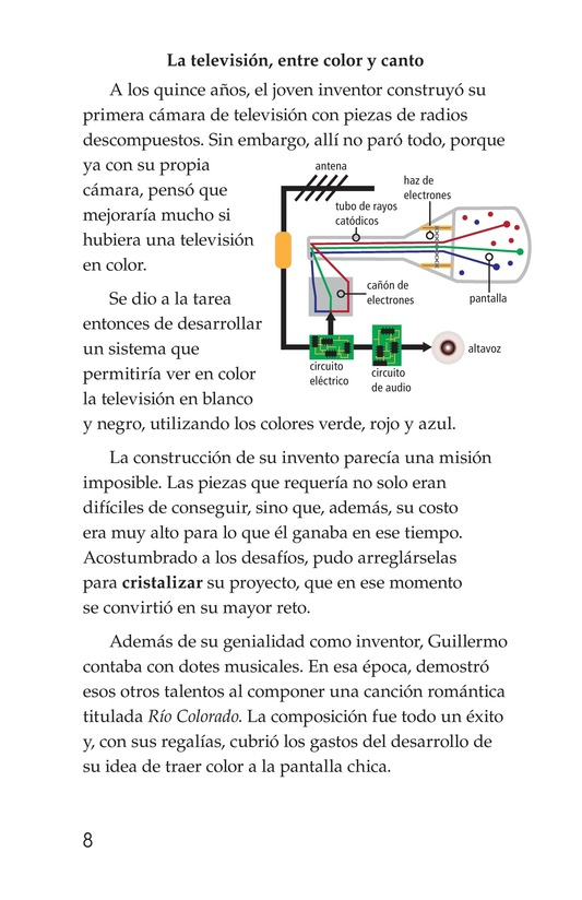 Book Preview For Guillermo González Camarena, un inventor que inspira Page 8