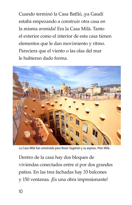 Book Preview For Antoni Gaudí, un genio de la arquitectura Page 10
