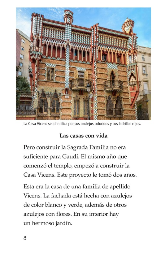 Book Preview For Antoni Gaudí, un genio de la arquitectura Page 8
