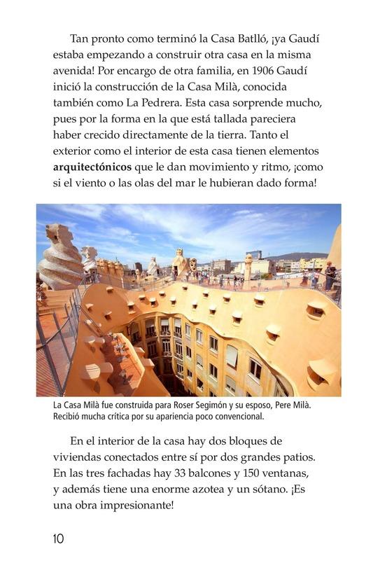 Book Preview For Antoni Gaudí, un genio de la arquitectura Page 10