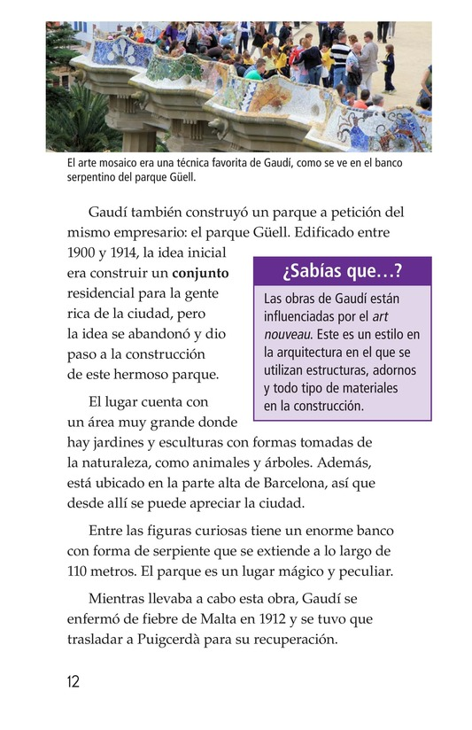 Book Preview For Antoni Gaudí, un genio de la arquitectura Page 12