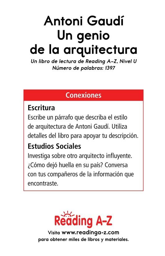 Book Preview For Antoni Gaudí, un genio de la arquitectura Page 17