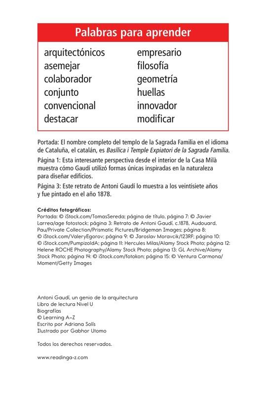 Book Preview For Antoni Gaudí, un genio de la arquitectura Page 2