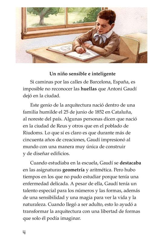 Book Preview For Antoni Gaudí, un genio de la arquitectura Page 4