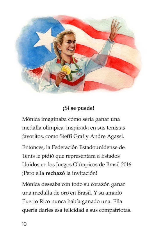 Book Preview For La campeona de la Isla del Encanto, Mónica Puig Page 10