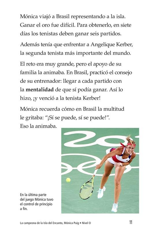 Book Preview For La campeona de la Isla del Encanto, Mónica Puig Page 11