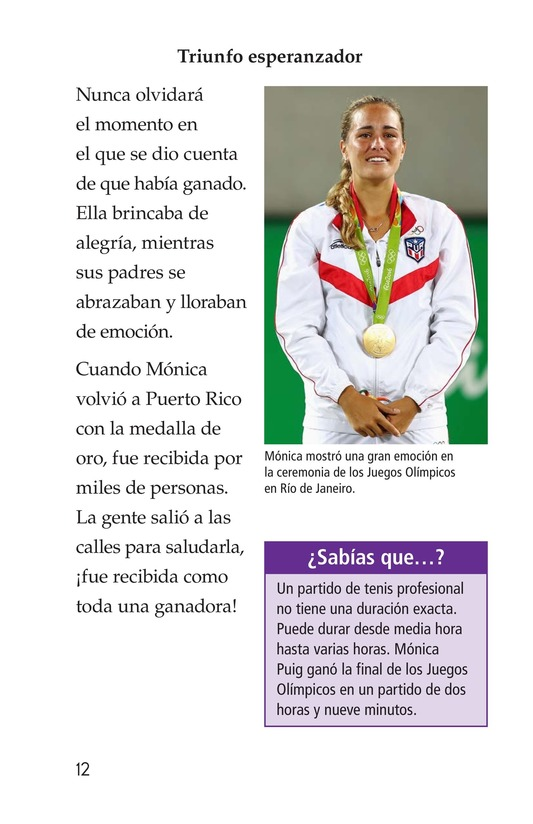 Book Preview For La campeona de la Isla del Encanto, Mónica Puig Page 12