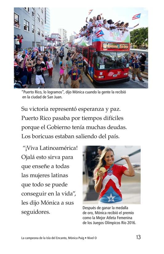 Book Preview For La campeona de la Isla del Encanto, Mónica Puig Page 13