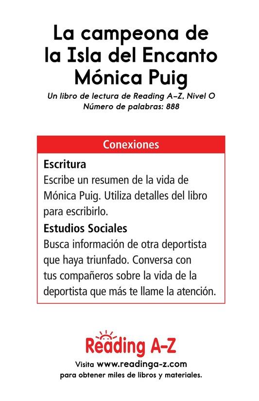 Book Preview For La campeona de la Isla del Encanto, Mónica Puig Page 17