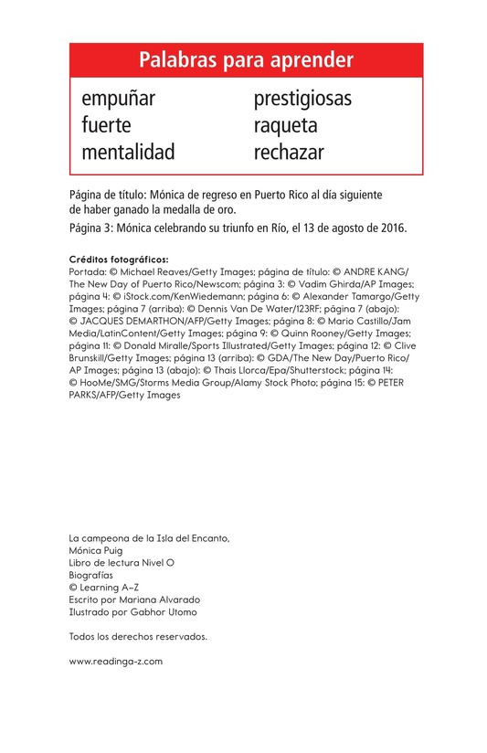 Book Preview For La campeona de la Isla del Encanto, Mónica Puig Page 2