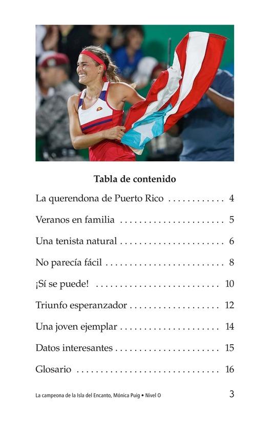Book Preview For La campeona de la Isla del Encanto, Mónica Puig Page 3