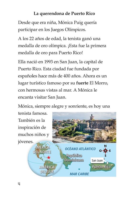 Book Preview For La campeona de la Isla del Encanto, Mónica Puig Page 4