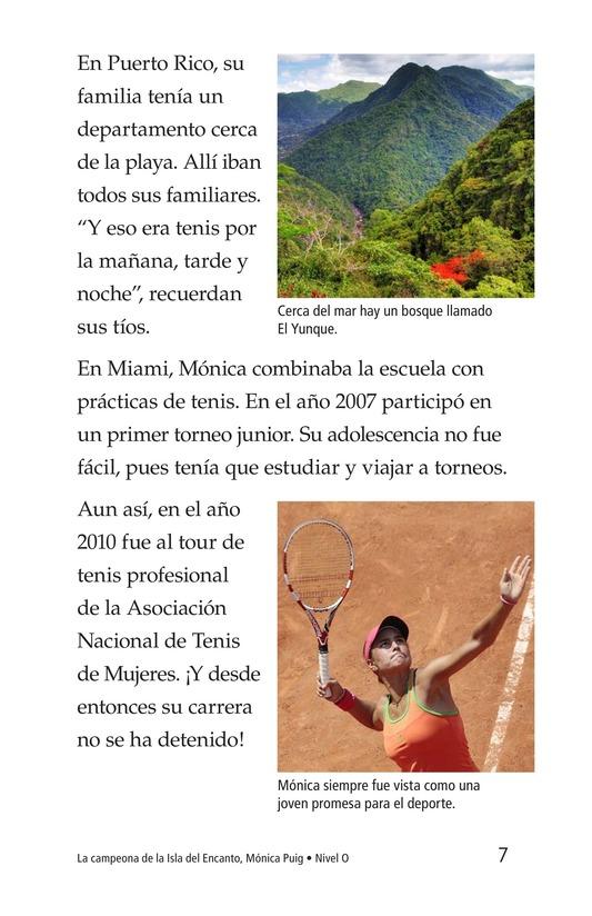 Book Preview For La campeona de la Isla del Encanto, Mónica Puig Page 7