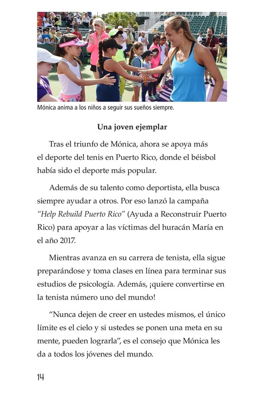 Book Preview For La campeona de la Isla del Encanto, Mónica Puig Page 14