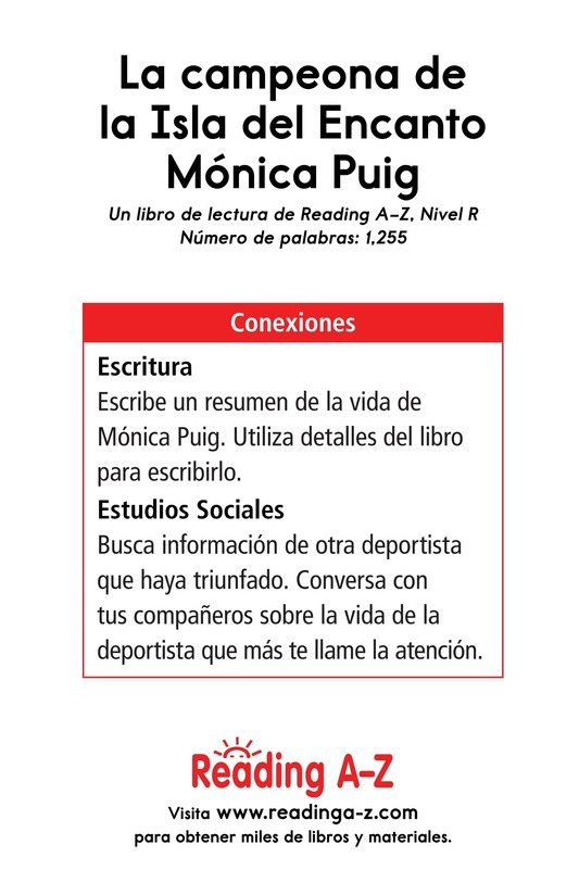 Book Preview For La campeona de la Isla del Encanto, Mónica Puig Page 17