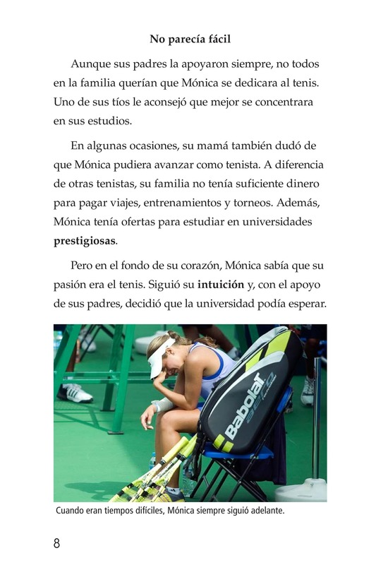 Book Preview For La campeona de la Isla del Encanto, Mónica Puig Page 8