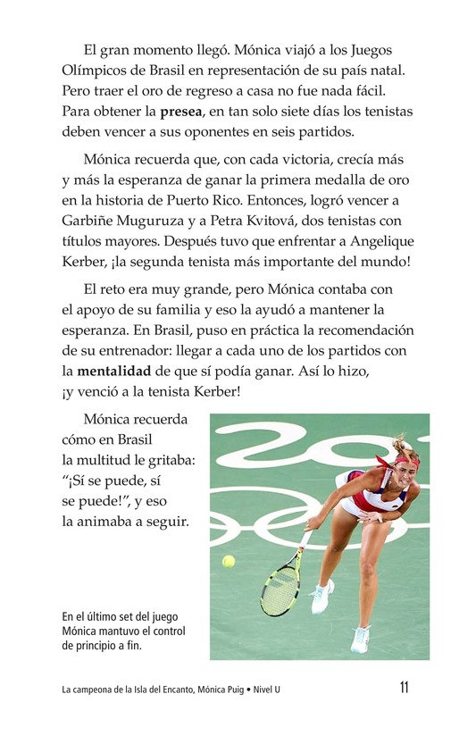 Book Preview For La campeona de la Isla del Encanto, Mónica Puig Page 11