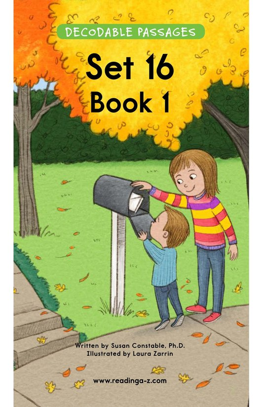 Book Preview For Decodable Passages Set 16 Book 1 Page 1