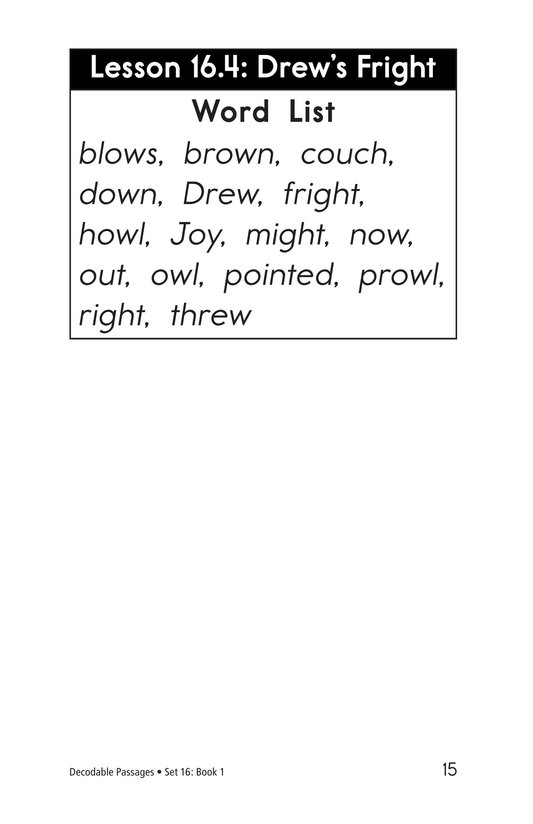 Book Preview For Decodable Passages Set 16 Book 1 Page 15