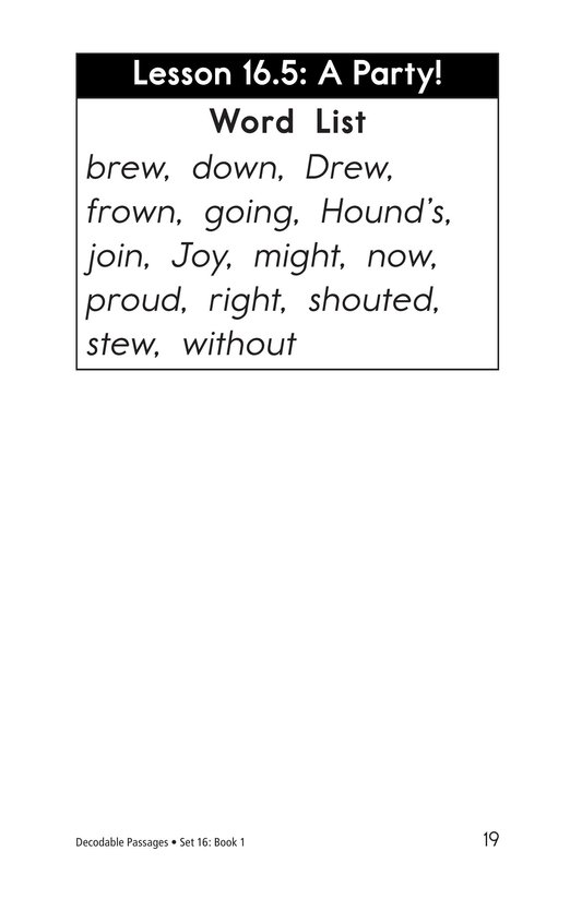 Book Preview For Decodable Passages Set 16 Book 1 Page 19