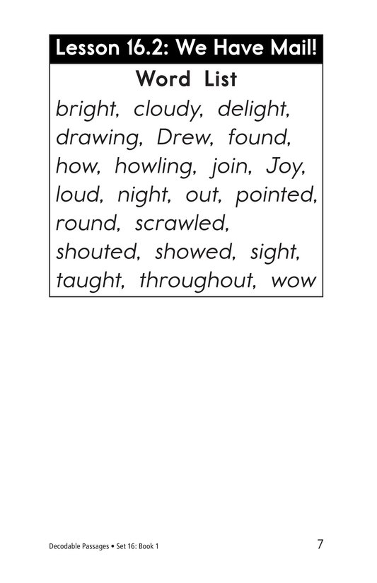 Book Preview For Decodable Passages Set 16 Book 1 Page 7