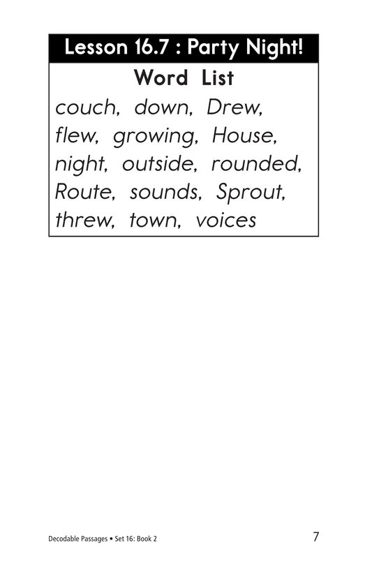 Book Preview For Decodable Passages Set 16 Book 2 Page 7