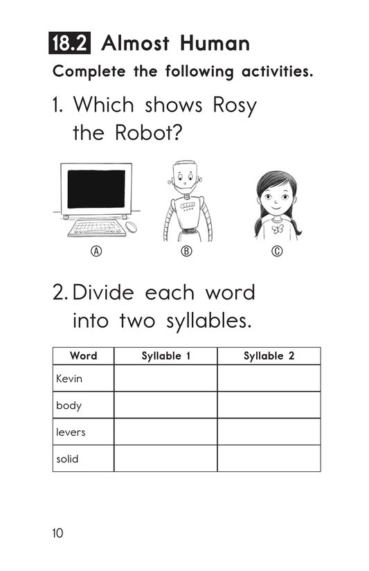 Book Preview For Decodable Passages Set 18 Book 1 Page 10