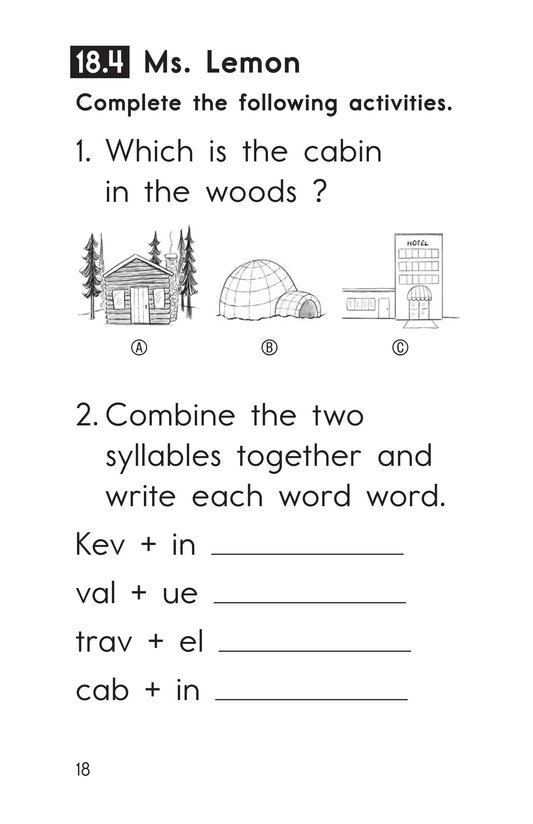 Book Preview For Decodable Passages Set 18 Book 1 Page 18