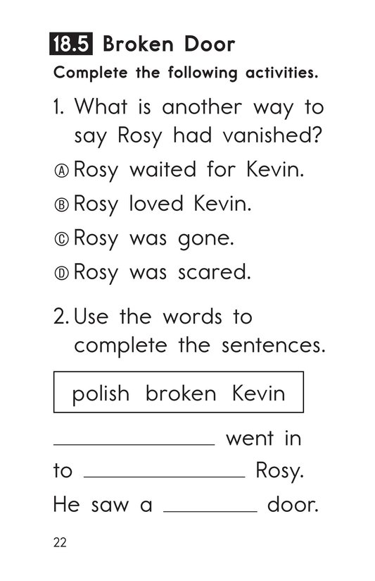 Book Preview For Decodable Passages Set 18 Book 1 Page 22