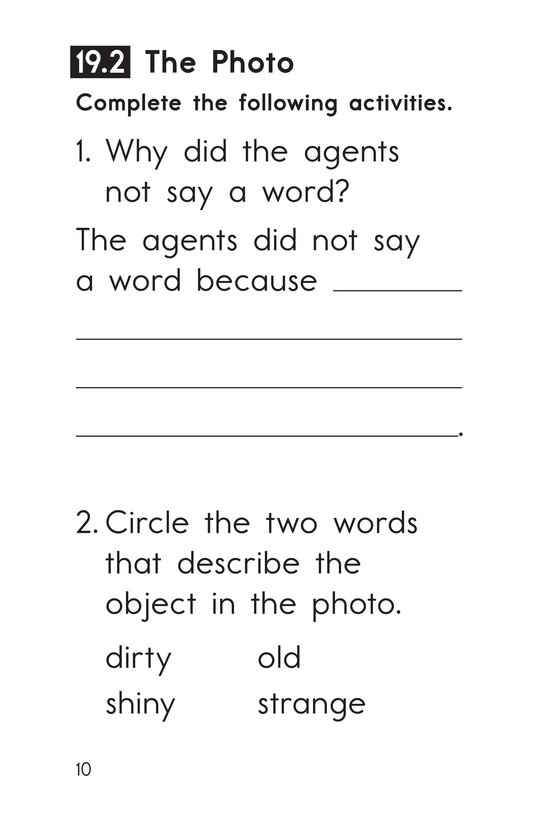 Book Preview For Decodable Passages Set 19 Book 1 Page 10