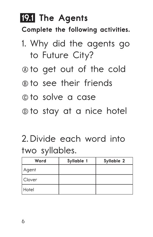 Book Preview For Decodable Passages Set 19 Book 1 Page 6