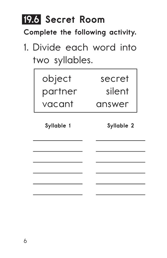 Book Preview For Decodable Passages Set 19 Book 2 Page 6
