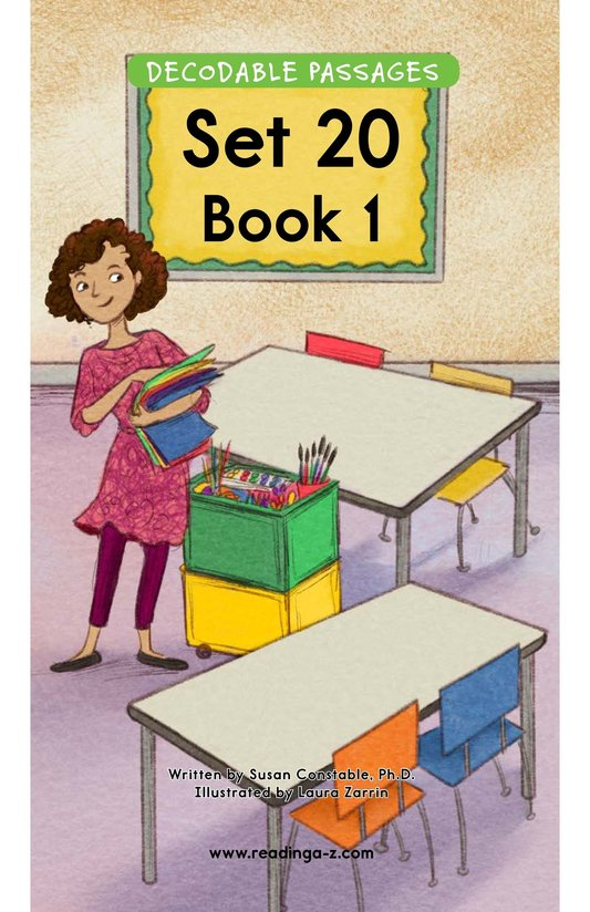 Book Preview For Decodable Passages Set 20 Book 1 Page 1