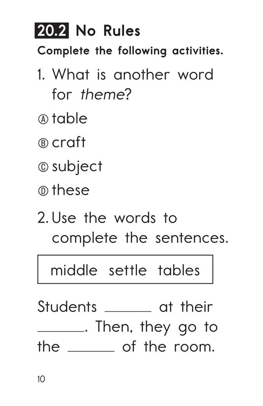 Book Preview For Decodable Passages Set 20 Book 1 Page 10