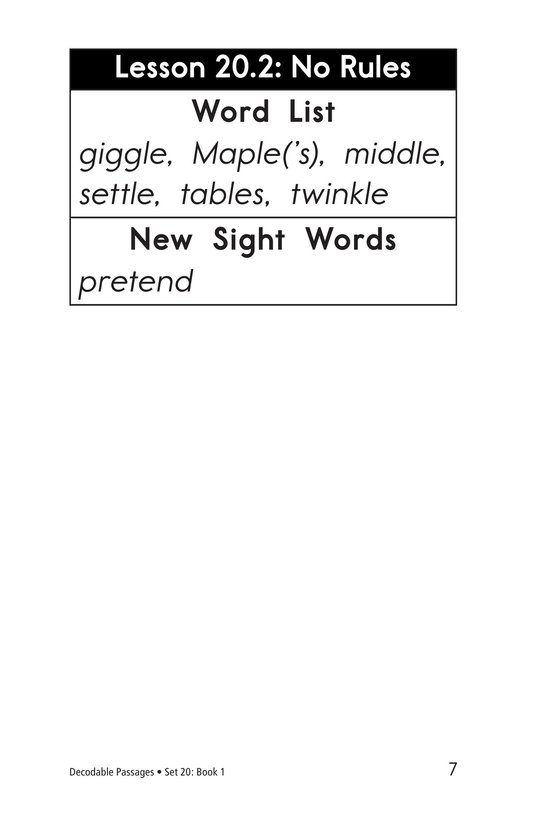 Book Preview For Decodable Passages Set 20 Book 1 Page 7