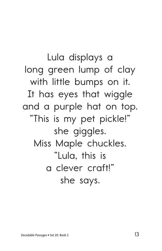 Book Preview For Decodable Passages Set 20 Book 2 Page 13