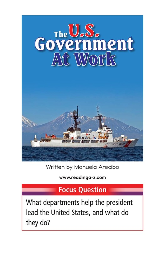 Book Preview For The U.S. Government At Work Page 1