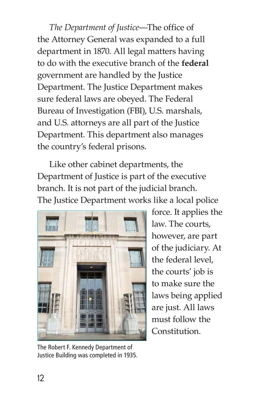 Book Preview For The U.S. Government At Work Page 12