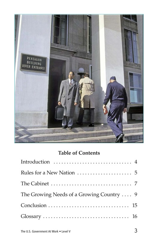 Book Preview For The U.S. Government At Work Page 3