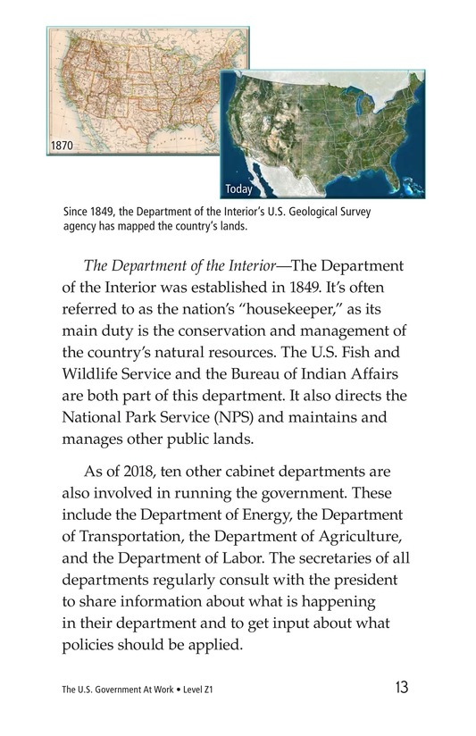 Book Preview For The U.S. Government At Work Page 13