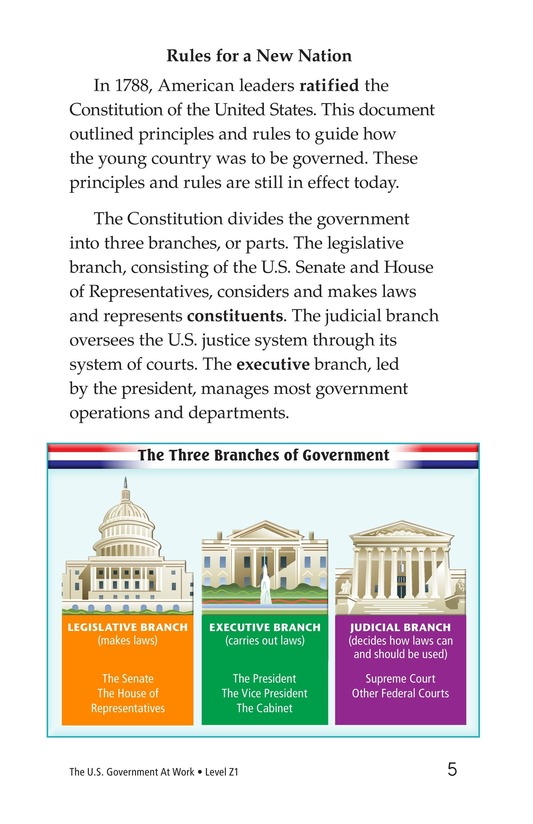 Book Preview For The U.S. Government At Work Page 5