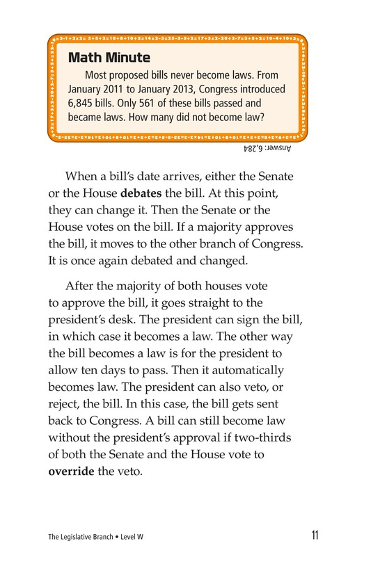 Book Preview For The Legislative Branch Page 11