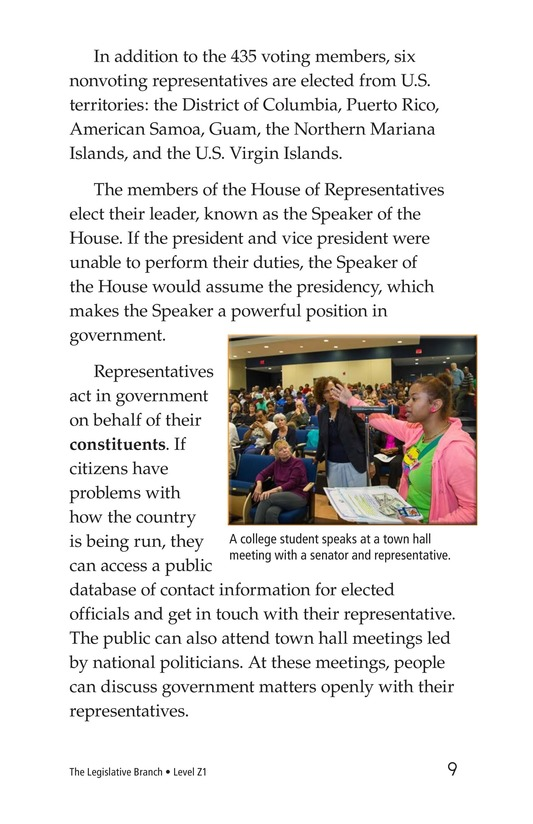 Book Preview For The Legislative Branch Page 9